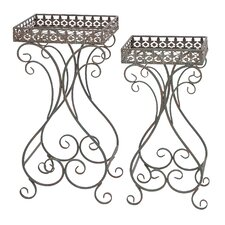 <strong>Woodland Imports</strong> Square Planter Stand (Set of 2)