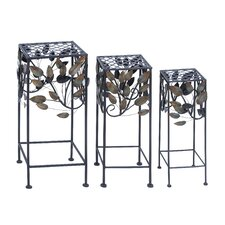 <strong>Woodland Imports</strong> Square Planter (Set of 3)