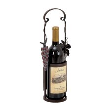 <strong>Woodland Imports</strong> 1 Bottle Tabletop Wine Rack