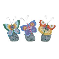 Casual Looking Beautiful Butterfly Décor Figurine (Set of 3)