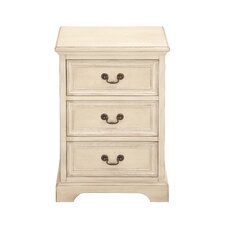 <strong>Woodland Imports</strong> 3 Drawer Nightstand