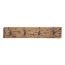 Rustic Wood Wall Metal Hooks