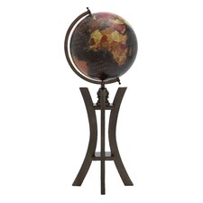 <strong>Woodland Imports</strong> Prestigious Wood and Metal Globe