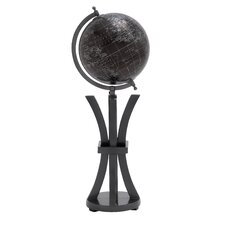 <strong>Woodland Imports</strong> Elegant Wood and Metal Globe