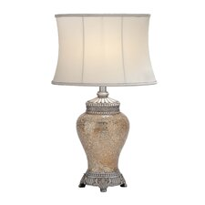 "Polished 30"" H Table Lamp with Bell Shade"