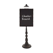 "Street Lamp Shaped Metal Wood 3' 9"" x 1' 2"" Chalkboard"