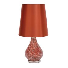"25"" H Versatile Glass and Metal Table Lamp"