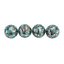 Mirror Mosaic Decorative Ball (Set of 4)