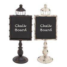 "Metal Wood 1' 9"" x 8"" Chalkboard (Set of 2)"