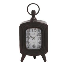 <strong>Woodland Imports</strong> Antique Metal Table Clock