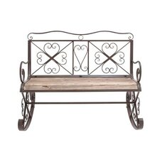 Swindon Metal and Wood Garden Bench