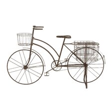 <strong>Woodland Imports</strong> Antique Metal Bicycle Planter