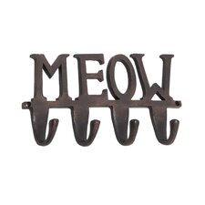 "Aluminum ""Meow"" Wall Hook"