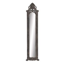 French Style Rectangular Wooden Wall Mirror