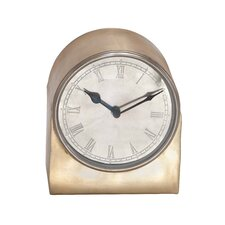 <strong>Woodland Imports</strong> Round Face Metal Retro Table Clock