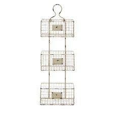 3 Tier Wire Basket Wall Shelf