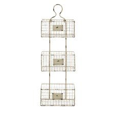 3 Tiered Metal Wire Basket Shelf