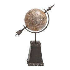 <strong>Woodland Imports</strong> British Styled Metal Globe
