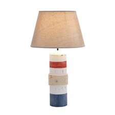 "24"" H Wooden Buoy Band Table Lamp"