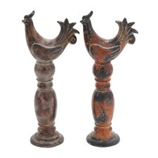 Ceramic Rooster Statues (Set of 2)