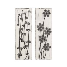 2 Piece Wood and Metal Assorted Wall Décor Set
