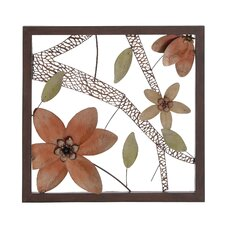 Chai Floral Metal Wall Art Décor