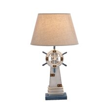 "Lighthouse 25"" H Table Lamp with Empire Shade"