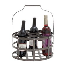 <strong>Woodland Imports</strong> 7 Bottle Hanging Wine Rack
