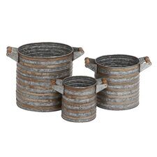 3 Piece Round Planter Set