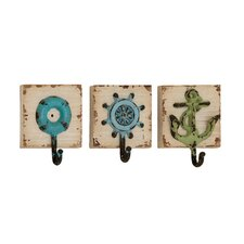 <strong>Woodland Imports</strong> 3 Piece Wall Hook Set