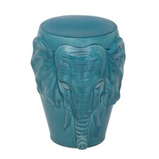 Ceramic Elephant Face Stool
