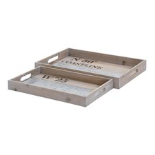 2 Piece Serving Tray Set