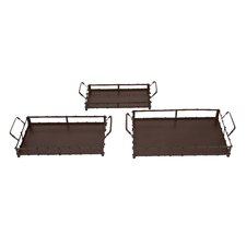 3 Piece Serving Tray Set