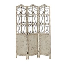 "<strong>Woodland Imports</strong> 72"" x 51"" Francisco 3 Panel Room Divider"