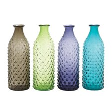 Bubble-Surfaced Glass Vase (Set of 4)