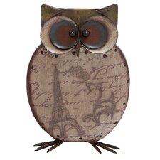 Metal Smart Owl Figurine