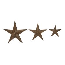 <strong>Woodland Imports</strong> 3 Piece Artistic Stars Decorative Wall Décor Set
