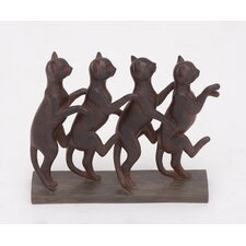 Row of Lexington Standing Cats Figurine