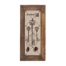 Postcard with Key Design Antique Wall Hook Décor