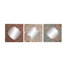 3 Piece Wouter Buckingham Wall Mirror Set