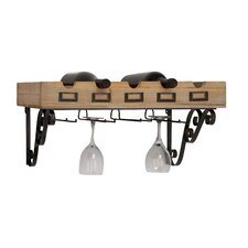 <strong>Woodland Imports</strong> 5 Bottle Wall Mount Wine Rack