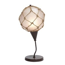 <strong>Woodland Imports</strong> Fishing Net Table Lamp