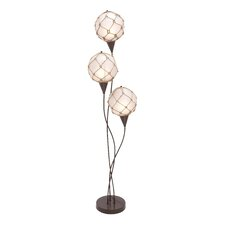<strong>Woodland Imports</strong> Metallic Rope Floor Lamp