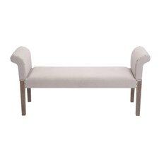 Wooden / Linen Fabric Bench