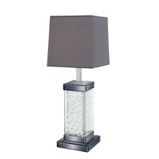 """Bubble Surfaced 28"""" H Table Lamp with Square Shade"""