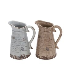 <strong>Woodland Imports</strong> Ceramic Pitchers