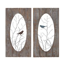 2 Piece Wooden Panel Wall Décor Set
