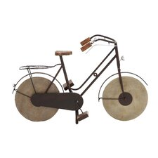 <strong>Woodland Imports</strong> Manhattans Classic Brunette Bicycle Figurine