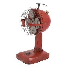 Metal Vintage Table Fan Figurine