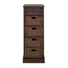 Lexington Wood 5 Drawer Basket Chest